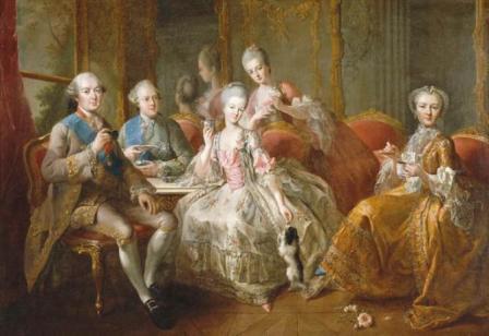 © Jean Baptiste Charpentier La famille Penthièvre ou la Tasse de Chocolat, 1768